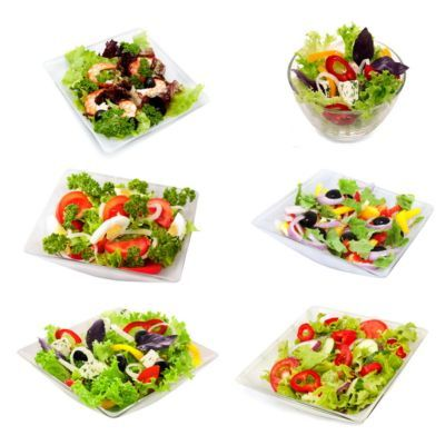 assorti of vegetable  salads